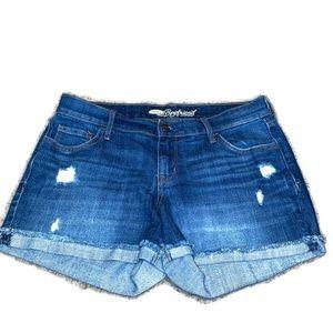 Old navy the boyfriend Jean shorts distressed 4